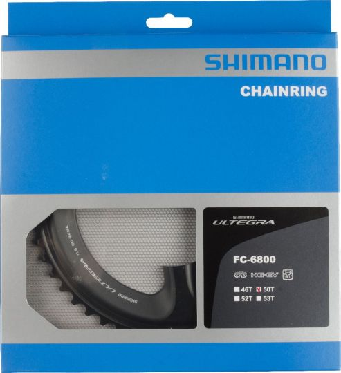 Shimano, Kettenblatt, Ultegra, FC-6800, 50 Z., 11x2-fach, MA für 50-34z, Lochkr. 110mm, Alu, (HstNr = Y1P498060)