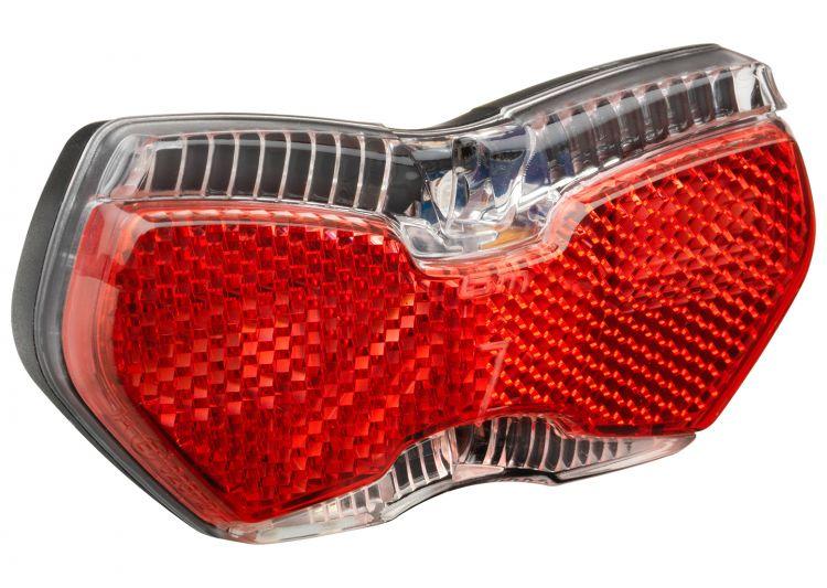 Busch & Müller, Beleuchtung, Diodenrücklicht, TOPLIGHT View E, 2x LineTec-Streifenlicht, 2 Hochleistungs-LEDs, Z-Großflächenrückstrahler, Spannungsber