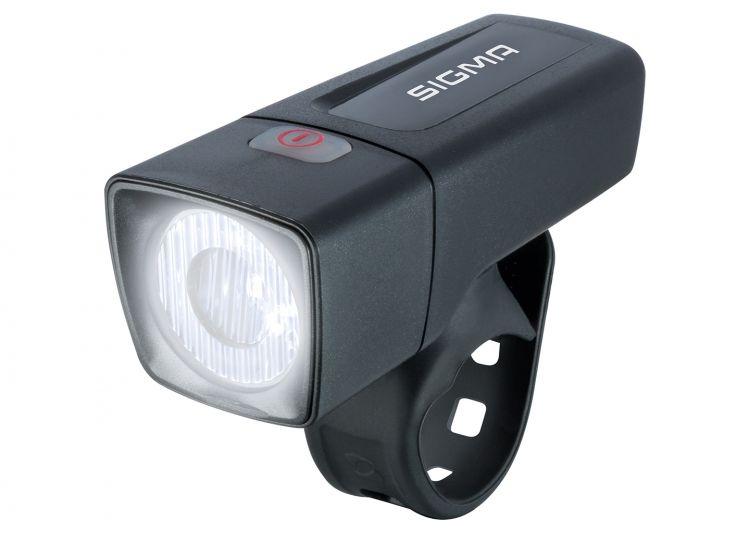 Sigma Sport, Beleuchtung, AURA 25, Frontleuchte, 25 LUX, Leuchtweite: 30m, Brenndauer: 5h (Standard-Modus), inkl. Batterien (2x AA), Gewicht: 70g (ink