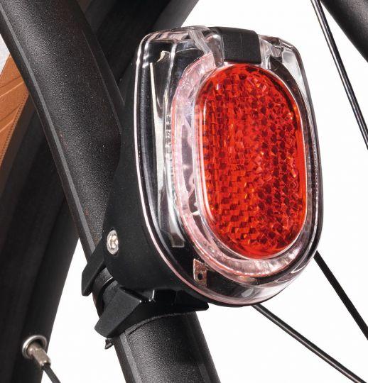 Busch & Müller, Beleuchtung, Diodenrücklicht, SECULA E, Streben-/Sattelstützmontage, 1 Hochleistungs-LED, sehr heller LineTec-Lichtkranz, zentral inte