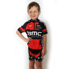 BMC Pearl Izumi Racing Team Promotional Set Junior/Kids - 128 (6-8y) Kids Size 128 (6-8y)/Schwarz/Rot