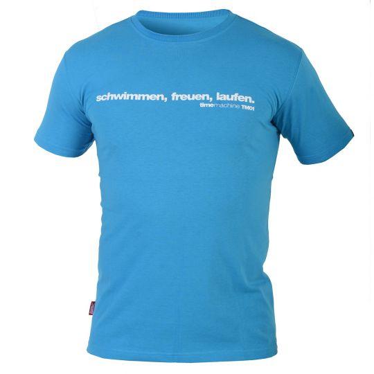 "BMC T-Shirt ""schwimmen, freuen, laufen"" Men  Gr. XS XS/Türkis"