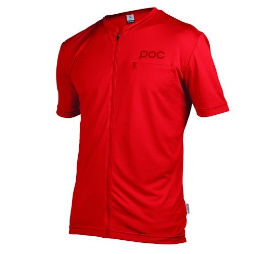 POC Trail Light Zip Tee Pewter Red 2015-S S