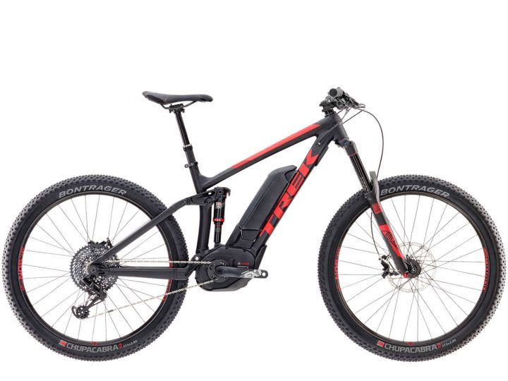 "Trek Powerfly 9 LT Plus 19.5"""" Matte Trek Black/Viper Red 2017 *Testbike*"